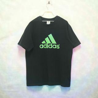 三件7折🎊 Adidas 老T 短T 黑 大logo 極稀有 老品 復古 古著 Vintage