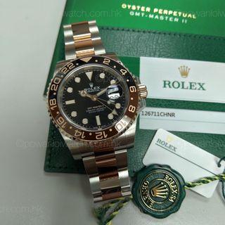 全新~2018年新款 #Rolex #126711CHNR 玫瑰金鋼 GMT-Master II #rootbeer