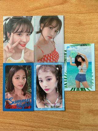 twice summer nights photocards