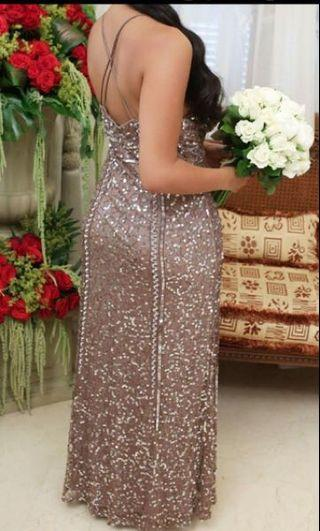 MARINA sequin floor length gown