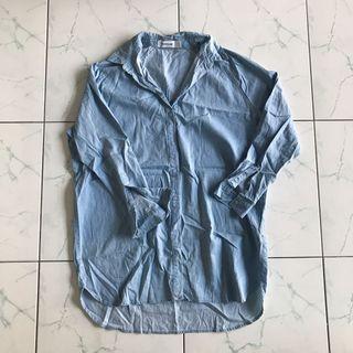 Oversize Button Up Shirt Dress