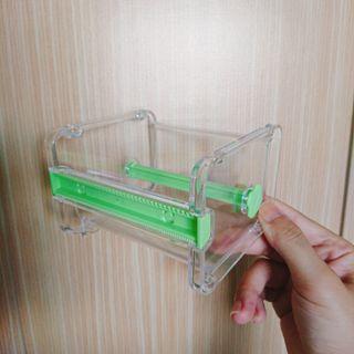 🚚 紙膠帶收納膠台  綠/米 2色  可堆疊