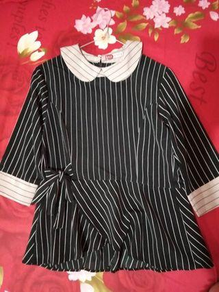 Black Stripes Blouse