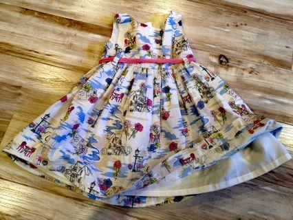 Pumpkin Patch - Blue and White Toddler Dress