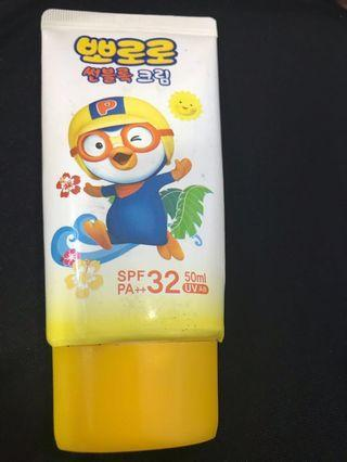 FREE GIVE AWAY Pororo Sunblock Cream spf32+ blessing