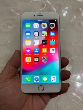 IPhone 6 Plus 銀色 16g 5.5吋 (IOS:12) 原盒配件無耳機、 外觀九成新、少許使用痕跡左下角和靜音鍵小傷、 無修無重摔無泡水,功能正常、效能順暢。已貼全屏滿版保護貼。 電池健康度🔋87%。