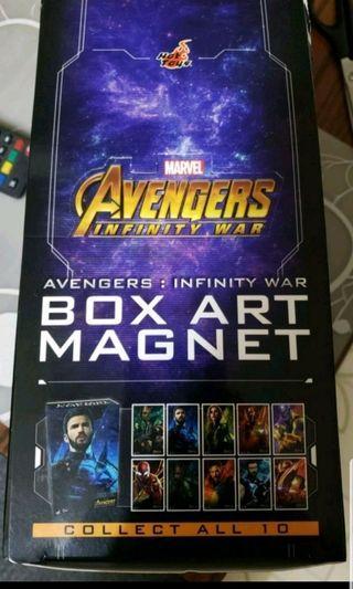 全新 hottoys Avengers Boxart Magnet 磁石盒仔 infinity war 無限之戰