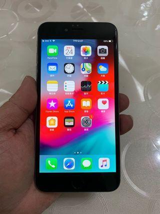 IPhone 6 Plus 太空灰 64g 5.5吋(IOS:12.2) 單機無盒配件無耳機、 外觀九成五新、漂亮完美無傷、已換過電池、無大修無重摔無泡水。 所有功能正常順暢。已貼滿版保護貼。 電池健康度🔋94%