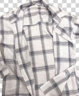 Plaid Shirt Blouse Overcoat 格仔襯衫 外套