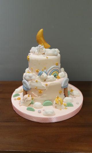 Fondant Cake Unicorn - kue ulang tahun