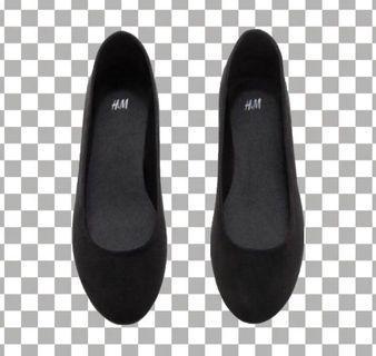 H&M Flats Shoes 黑色平底鞋