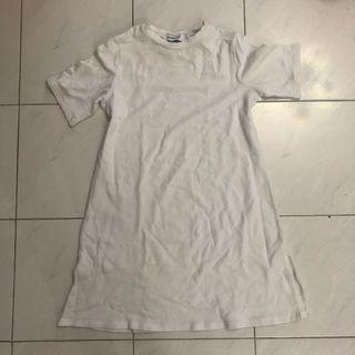 🚚 editors market white basic dress