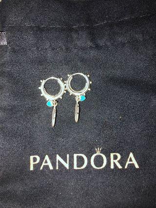 Pandora spiritual feather  earring