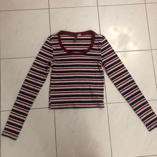 🚚 multicoloured striped long sleeve top