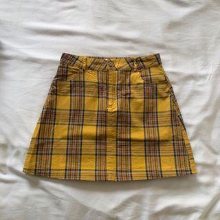 TEM Nisha Check Mini Skirt