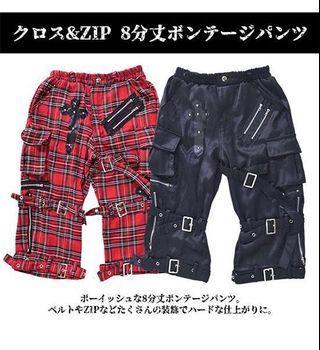 Harajuku Vkei Punk Style Studded Cross Bermudas