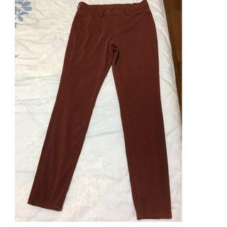 Like New Uniqlo Reddish Brown Leggings