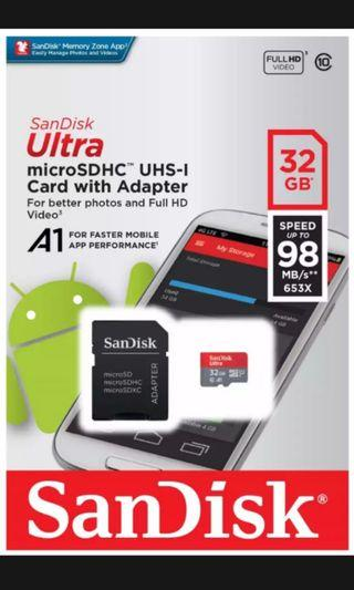 SanDisk Ultra microSDHC with adapter