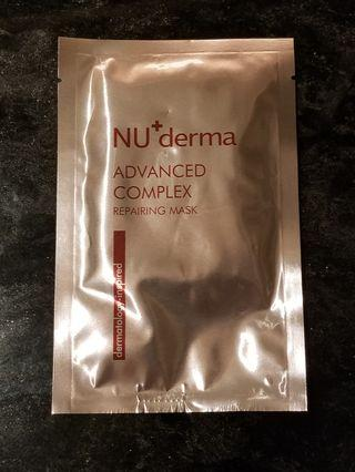 NU+ derma advanced repairing mask 抗老修護 微導膜 面膜