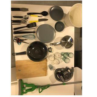 BULK BUY ALL IKEA Kitchen utensils, plates and pans, mops and more (full list below)