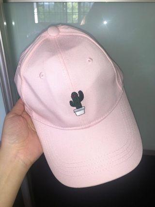 Ulzzang Pink cactus Baseball Cap