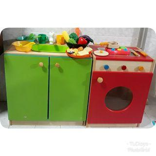FREE POST Big Wooden Kitchen Playset Cabinet (preloved)