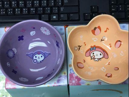 7-11 Kitty 花雨形陶瓷碗 有Melody Only