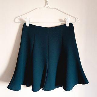 🚚 Dark green skater skirt from Korea
