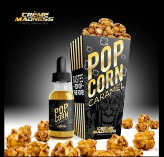 100% authentic CremeMadness Popcorn Caramel 60ml Vape Juice Ejuice E-Liquid