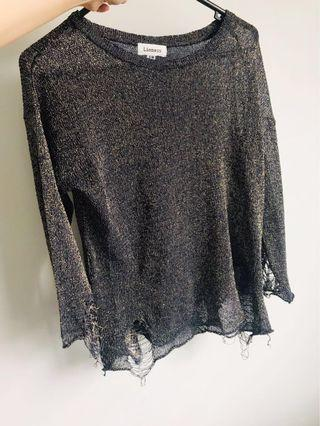 Lioness slashed slouchy thin jumper size S/M