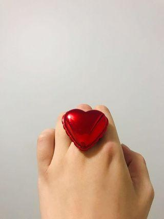 Kate Spade Metallic red oversized cocktail ring