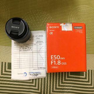 Lensa Sony E 50mm f/1.8 OSS GARANSI RESMI SONY INDONESIA