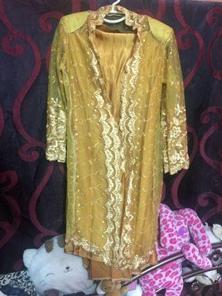 Baju Kebaya lace gold musted