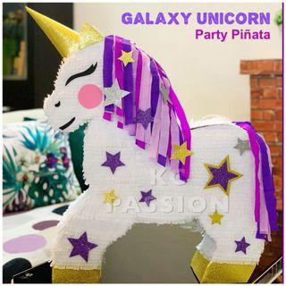 🎊 GALAXY UNICORN PARTY PIÑATA • PINATA Customized • Personalized • Pull String • Hit Type Pinatas for Party Event Decoration • Table Centerpiece • Photo Booth Props