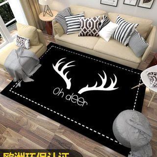 Funny Big Soft Scandi Carpet / Rugs -Oh Deer