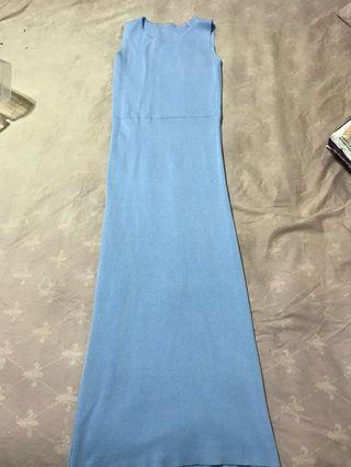🚚 藍色針織洋裝