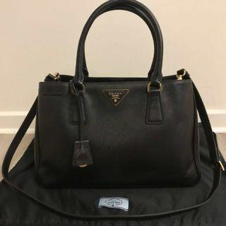 Authentic Prada Saffiano Single Zip Small Size