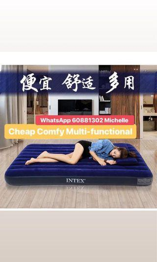 US 🇺🇸 Inflatable Flocked Air Single Bed Mattress 🌙🏆🏆