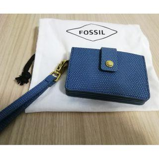 Authentic fossil cardholder blue (not prada. Not kate spade)