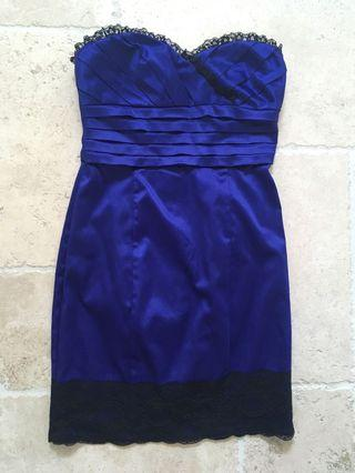 Bebe Satin purple dress (xs)