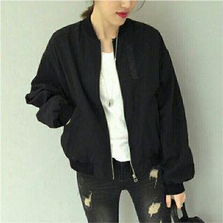 Free Size Black Bomber Jacket