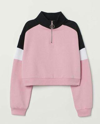 H&M Sweatshirt Stand Up Collar