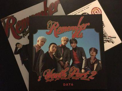 DAY6 Remember Us Album REW Ver with Photocards !!