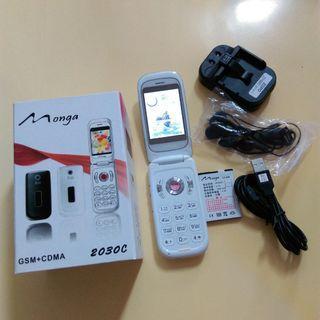 全新 Monga 2030C多用途行動電話白色 適合收藏或當零件機