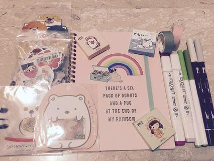 Cheapest Bujo Aesthetic Stationery Study Supplies Grabbags