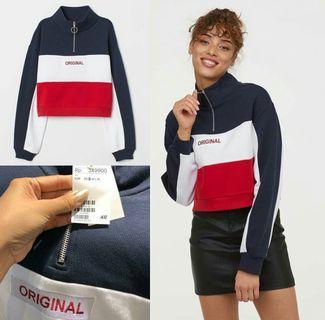 💯 NEW! RUNNING DI COUNTER  Stand Up collar Sweatshirt,  H&M