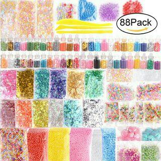 Slime decoration set of 88 different deco