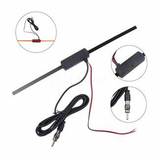 Universal 12V Non-Directional Auto Car Windshield Glass Electronic Mount Self Adhesive TV FM Radio Antenna Signal strengthen