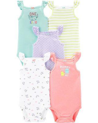 🚚 Carters 6M baby girl sleeveless fluttersleeve Bodysuit Romper