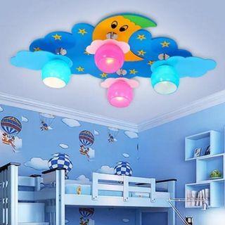 星星月亮太陽變色兒童天花房燈 Star Moon Sun Color Children's Room Lamp